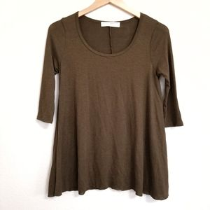 NWT Urban Outfitters Olive Knit Tunic Top